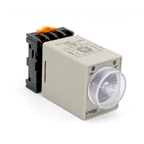 H3-3 AC/DC 24V 60s 60 Seconds Timer Power ON Delay with Base Socket ()