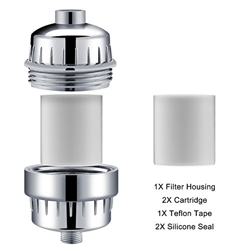 2158c8675551d Aqua Homliss 10-Stage Shower Filter with 2 Cartridges - Universal ...