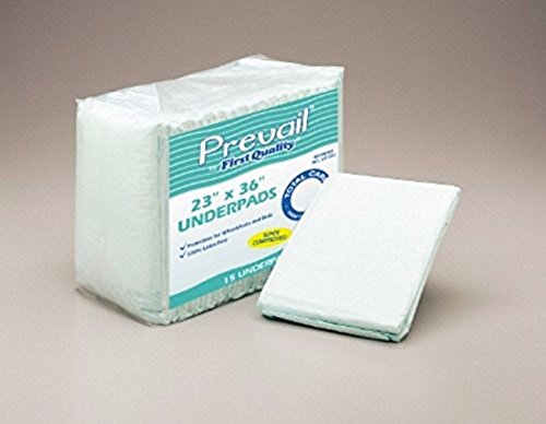Prevail Fluff Underpads, Large, 150 Total Count (Packaging May (Adult Underpads)