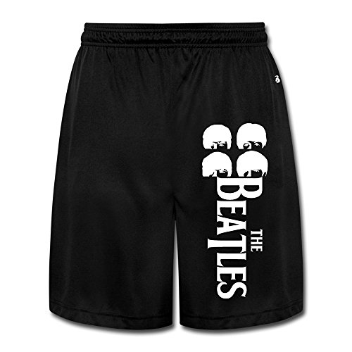 [Runy Men's The Beatles Slim Sports Jogging Shorts With Pocket Black] (Easy Sally Costumes)