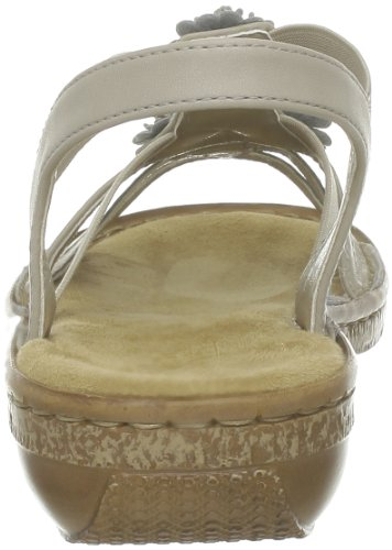 Rieker 62860-60 - Sandalias de material sintético mujer beige - Beige (champignon 60)