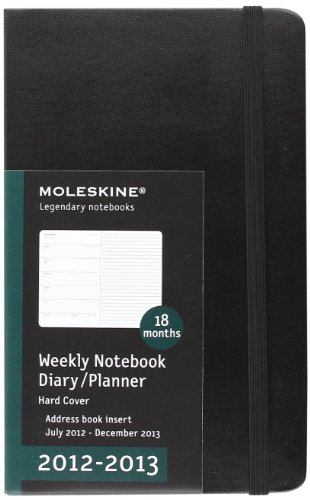 Moleskine 2012-2013 Weekly Planner, 18 Month, Large, Black, Hard Cover (5 x 8.25) (Planners & Datebooks)