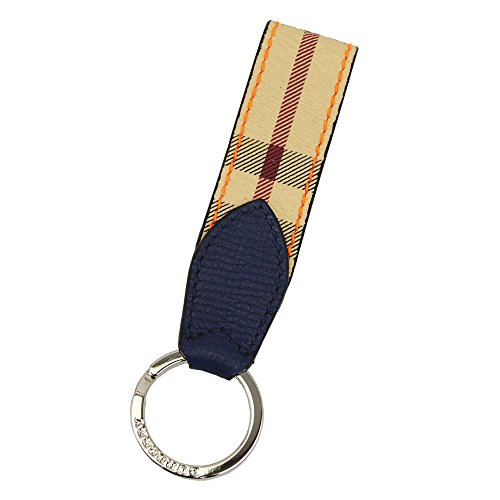 - Burberry Haymarket Check and Two-tone Leather Key Ring 4065215