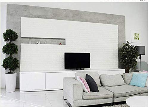 3D Self-Adhesive Wall Panels, 23.6'' x 23.6'' Brick Wall Sticker, Waterproof PE Foam 3D Wallpaper Peel and Stick for Living Room, Background Wall and Office Decoration by Homewalldiy (Image #4)