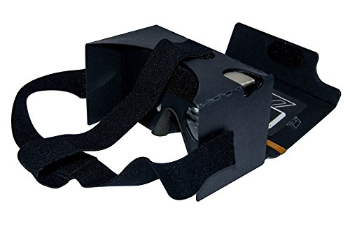 MINKANAK 3D Virtual Reality Cardboard Glasses with Head Strap Nose Pad and NFC for 3-6-Inch Smartphone