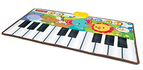 Fisher-Price Music - Piano/Keyboard -  Rain Forest Dancin' Tunes Step-On Keyboard - Step On & Learn to Play with This Electronic Interactive Toy for Kids -