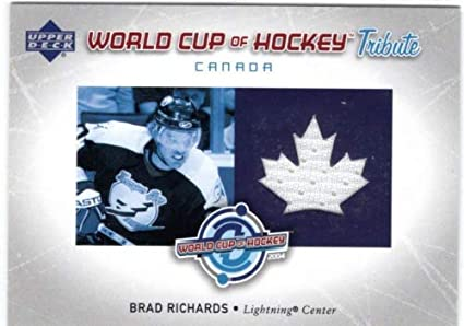 check out 3806a de356 2004-05 Upper Deck World Cup Tribute #BR Brad Richards Game ...