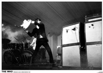 The Who Peter Townsend Smashing Guitar Huge Laminated Mod Poster