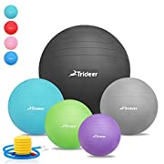 Exercise Ball (45-85cm) Yoga Ball Chair, Anti-Burst & Extra Thick Heavy Duty Stability Ball Supports 2200lbs, Birthing Ball with Quick Pump
