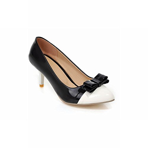 Carol Shoes Elegance Womens Sweet Assorted Colors Pointed-toe Bridal Mid Stiletto Heel Dress Pumps Shoes Black 0j2Ug