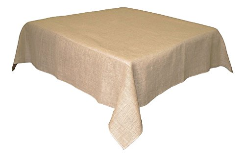 Firefly Craft Rustic Burlap Square Table Cloth, 60 Inches By 60 Inches, Set of (Burlap Cloth)