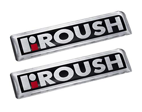 (1996-2008 F-150 & Mustang Roush R Red Silver & Black Emblems - 4.5