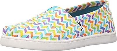 TOMS Women's TRVL Lite Slip-On Shoe, Multicolor, Size Big Kid 4.5