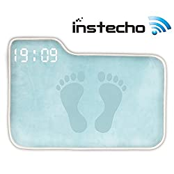 Alarm Clock for Heavy Sleepers,Instecho Rug Carpet Alarm Clock - Digital Display,Pressure Sensitive Alarm Clock with The Softest Touch for Modern Home, Kids, Teens, Girls and Guys (Ocean Blue)