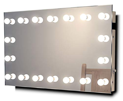 (Diamond X Hollywood Audio Vanity Mirror with Dimmable CW LED k413CWaudbath)