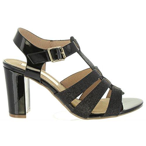 Negro Glitter Xti Femme Sandales Pour 30615 wFw7ZSq