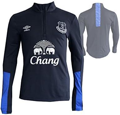 Umbro FC Everton Entrenamiento de Fútbol Camiseta Premier League toffees Fútbol Jersey Camiseta, Unisex, Galaxy Grey/Dazzling Blue, Extra-Large