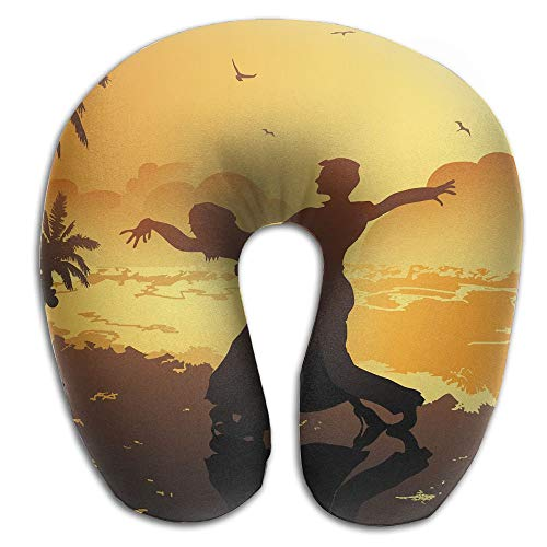 Neck Pillow with Resilient Material Sunset Dance U Type Travel Pillow Super Soft Cervical Pillow by Summer Park