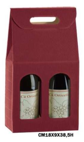 Cajas Vino de 2 botellas verticales de cartón onda bordò (conf. de 20 piezas: Amazon.es: Industria, empresas y ciencia