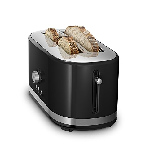 KitchenAid KMT4116OB 4-Slice Wide-Slot Toaster Onyx Black