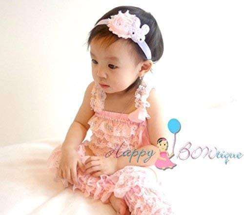 44f92985a5f6 Amazon.com  3pcs Easter Lavender Pink Bunny Romper and Leg Warmers ...