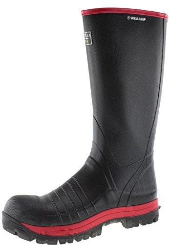 Skellerup Quatro S5 Super Safety Knee, Gummistiefel Schwarz