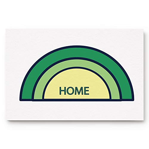 TweetyBed Half Moon Shaped Non-Slip Rug Doormat Door Mat,Indoor,for Home,Office,Bedroom Kitchen Floor Bath Entrance Green Home 16x24 inches