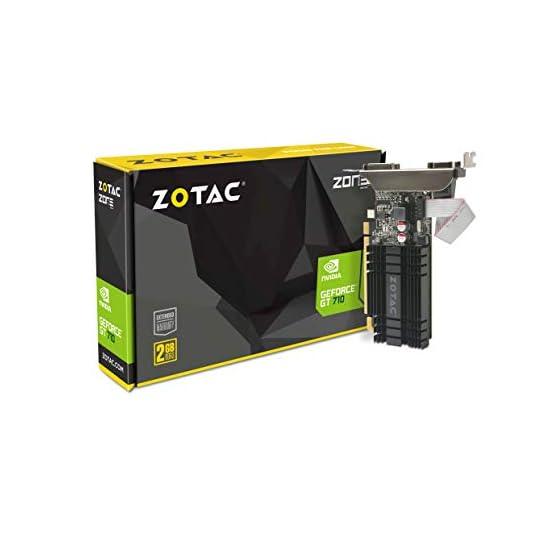 ZOTAC GeForce GT 710 2GB DDR3 PCI-E2.0 DL-DVI VGA HDMI Passive Cooled Single Slot Low Profile Graphics Card (ZT-71302… 419ayscQmvL. SS555