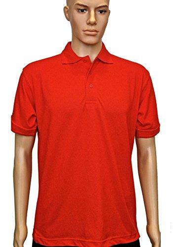 Uneek clothing - Polo - para hombre rojo rosso XS