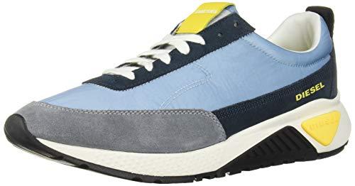 Diesel Men's SKB S-KB Low LACE-Sneakers, Forget Blue/Midnight Navy, 12 M US