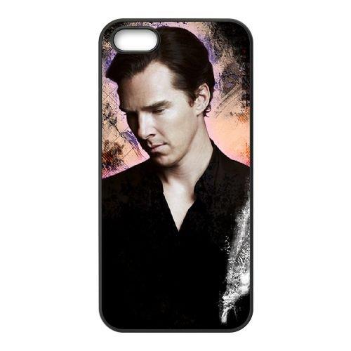 Benedict Cumberbatch 017 coque iPhone 5 5S cellulaire cas coque de téléphone cas téléphone cellulaire noir couvercle EOKXLLNCD22159