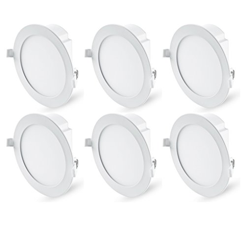 "Hyperikon 6"" Recessed LED Downlight with Junction Box, Dimmable, 11.6W (65W Equivalent), Slim Retrofit Airtight Downlight, 4000K (Daylight Glow), ENERGY STAR, UL - For Dry/Damp Locations (6 Pack)"