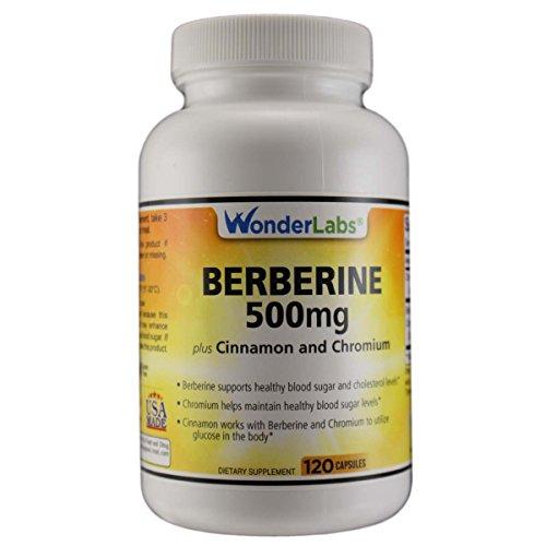 Berberine Cholesterol Blood Sugar Supplement: HCL 500+ TripleDefense Gluten & GMO Free Maintenance for Glucose, Metabolism, Heart & Immune System Health – Anti Inflammatory Cinnamon Chromium Detox