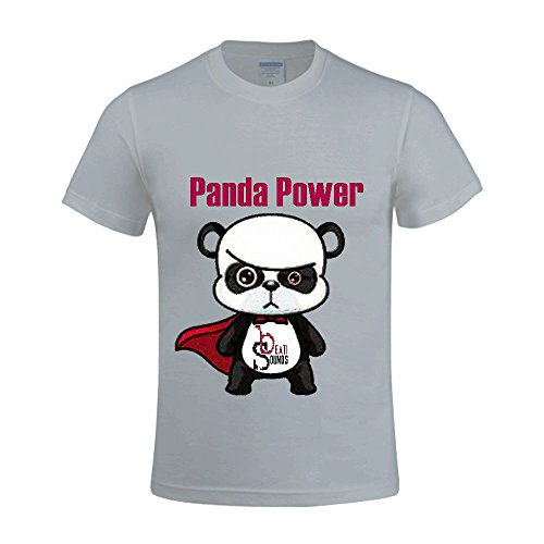 T-shirt Value Snow - Panda Power - Single Beati Sounds Men Crew Neck Graphic T Shirts Grey