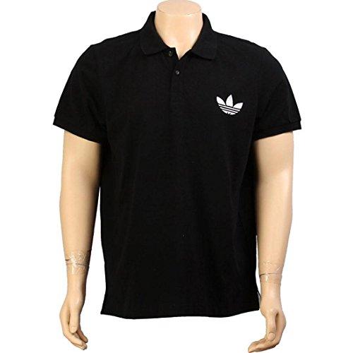 Adidas Pique Polo Emblem Tee - Black/White (Men) - X-Large