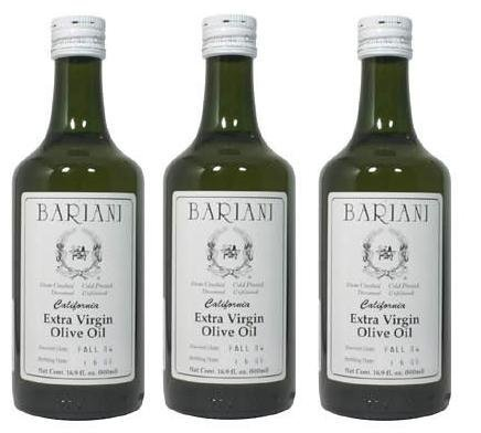 Bariani California Extra Virgin Olive Oil - 3X 1/2 Liter by Bariani