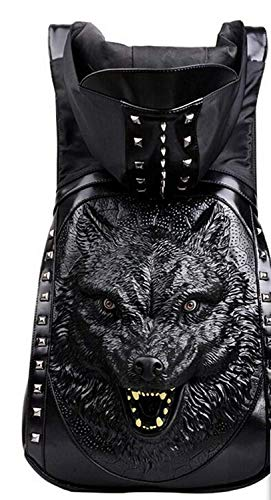 Bandoulière Creative And Sac Women Taille Tridimensionnel À Dos Men Wolfhead coloré 3d Eeayyygch Rivetricewords aRczAc