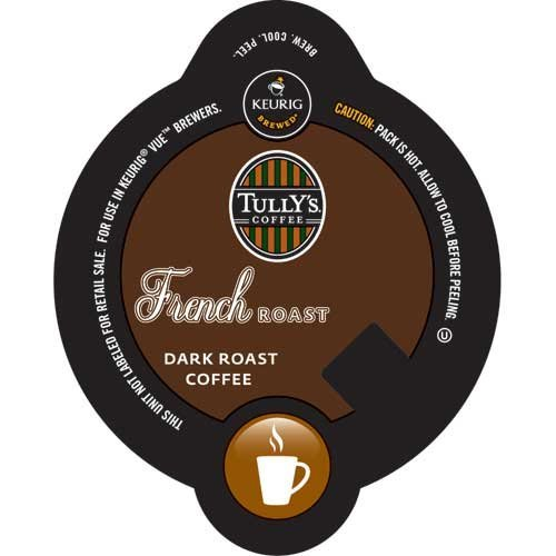 Tully's French Roast, Vue Cups for Keurig Vue Brewers (96 Count)