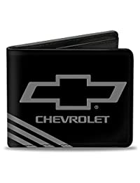 Buckle-Down Wallet Chevrolet Bowtie 3-stripe Black/charcoal Accessory