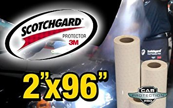 3M Scotchgard Clear Bra Paint Protection Bulk Film Roll 2'-by-96'-inches