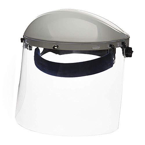 Sellstrom Face Shield S30120 Advantage Series, Full Safety Mask for Men Women, Clear Polycarbonate, Ratchet Headgear, Lightweight Comfort, ANSI Z87