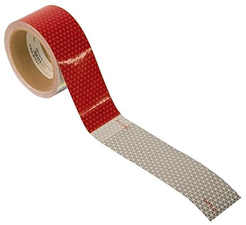 Blazer C285RW Red/White Conspicuity Tape 2 X 18-Inch 30-Foot Roll - Pack of 1-Roll by Blazer International Trailer & Towing Accessories