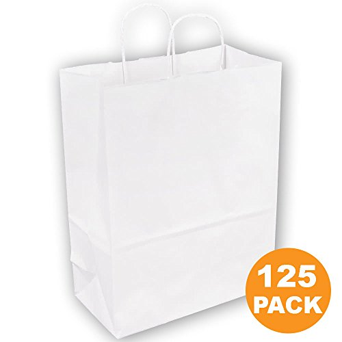 White Paper Bags with Handles 13 x 10 x 5