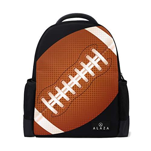 Backpack American Football Womens Laptop Backpacks Hiking Bag Travel Daypack