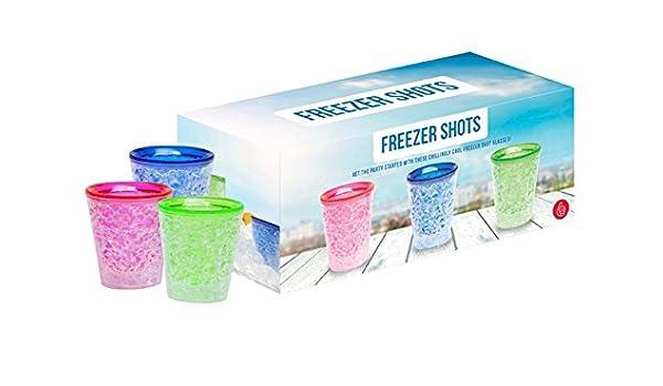 Gel, apta para congelador Congelador vasos de chupito X3 - el ...