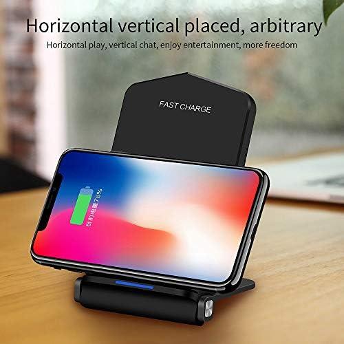 IPhone 11/11のPro / X/のX最大/XR / 8プラス/サムスンS10 / S10 / S9 / S9 / S8 /注9に対応した無線充電ステーション、チー公認10W高速ワイヤレス充電スタンド、,白