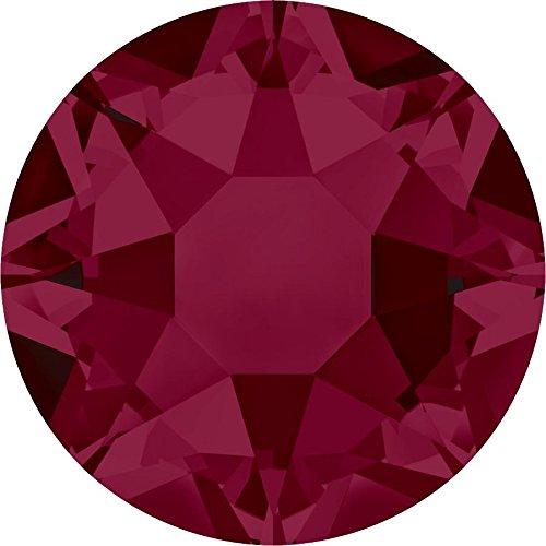 2000, 2038 & 2078 Swarovski Flatback Crystals Hotfix Ruby   SS34 (7.2mm) - 144 Crystals (Wholesale)   Small & Wholesale Packs by SWAROVSKI