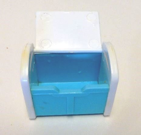Rare - Club Penguin Mini Accessories - White and Blue 1.5