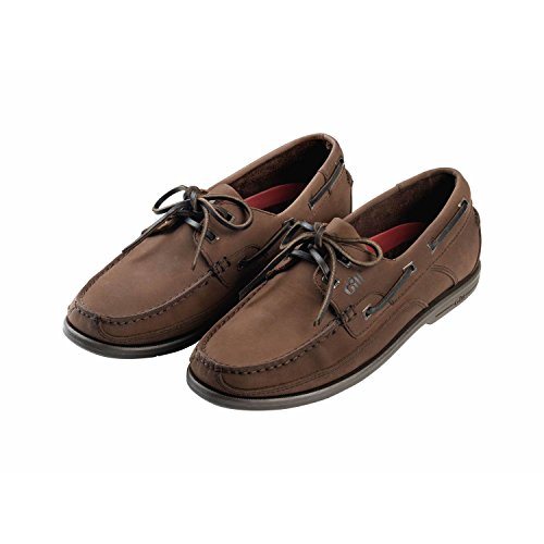 Gill Herren Baltimore 2 Eyelet Deck Shoe - Schuh UK 6.5 (EUR 40) Dark Brown