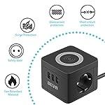 BEVA-Multipresa-Cubo-Caricatore-Wireless-con-3-Prese-USB-e-2-Prese-EU-Ciabatta-Elettrica-con-Funzione-di-Ricarica-Wireless-2500W10A-Cavo-15-m